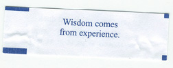 Wisdom comes from experience